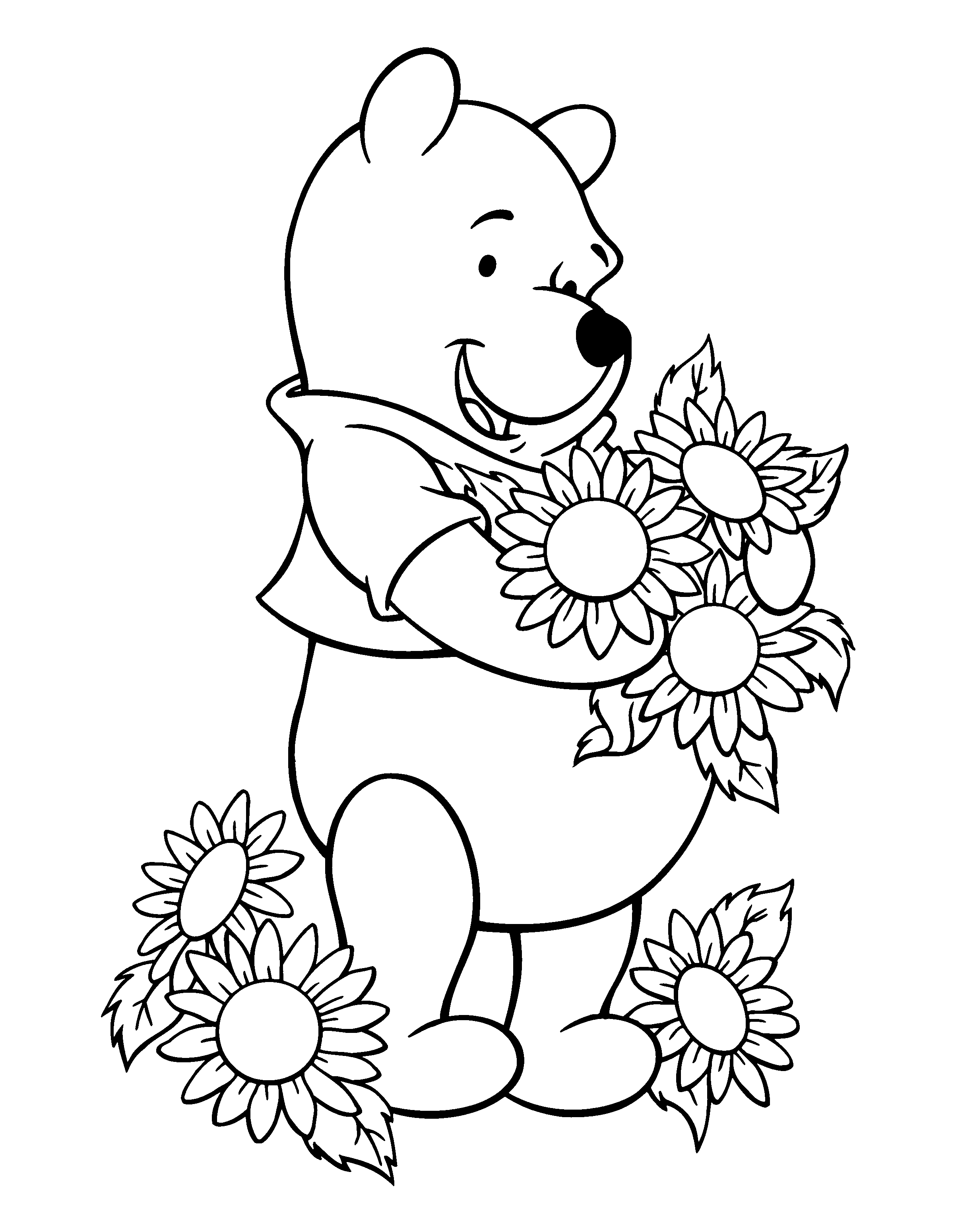 2400x3100 Winnie The Pooh Coloring Books Download