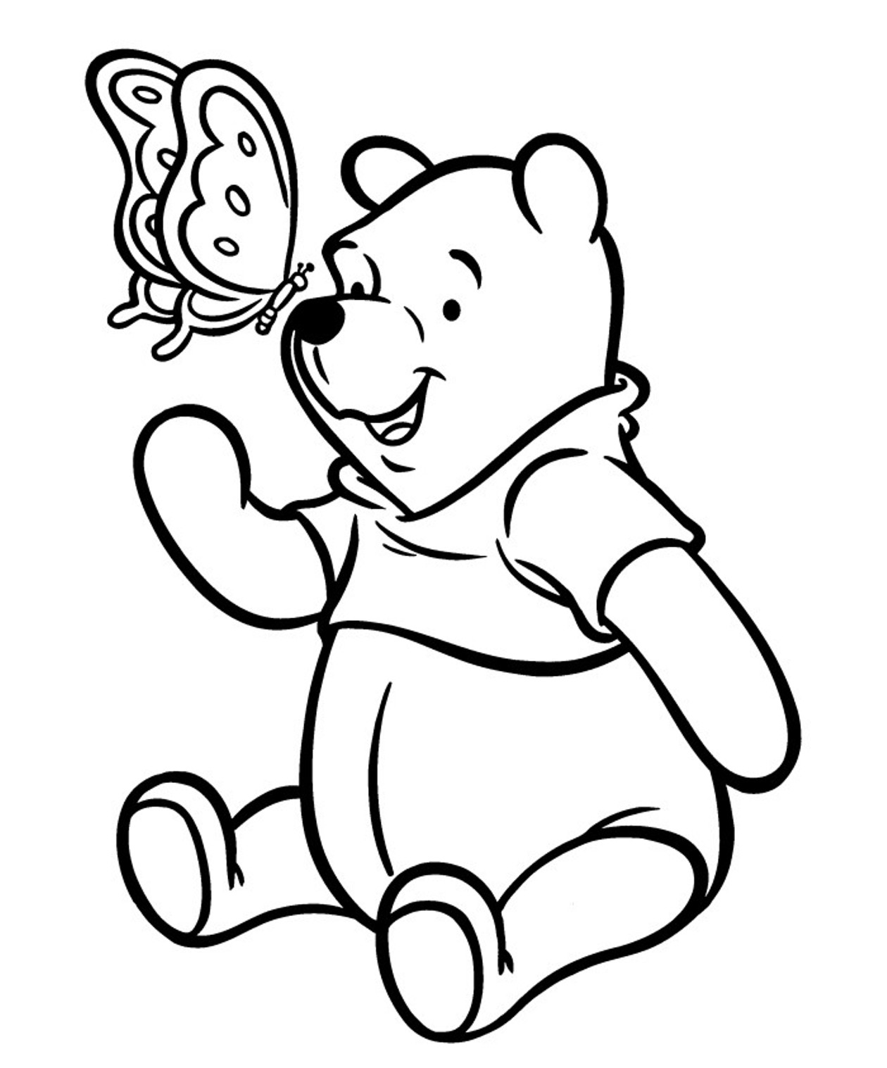Winnie The Pooh Line Drawing at GetDrawings.com | Free for personal ...
