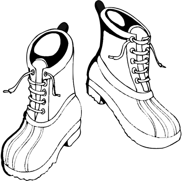 600x599 Shoes Winter Boots Coloring Page Art Work Bible
