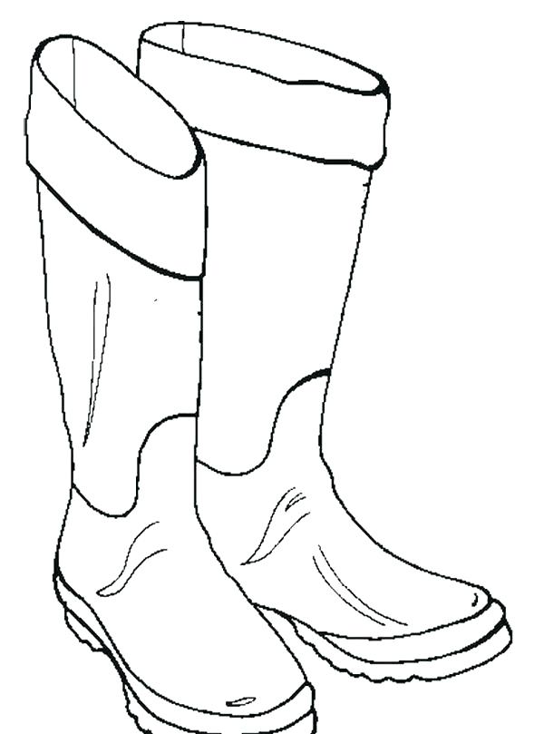 600x809 This Is Boot Coloring Page Images Cowboys Coloring Pages Cowboy
