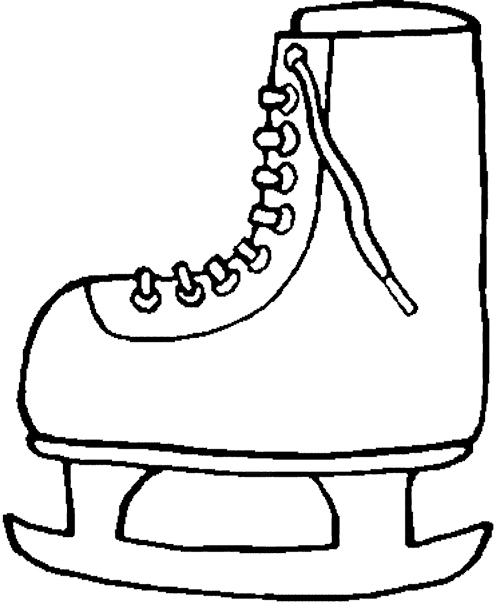 500x604 Winter Boots Coloring Pages