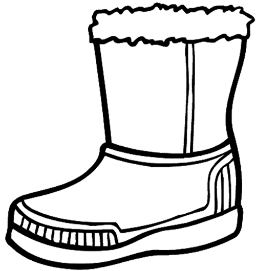 500x530 Winter Boots Large Coloring Page Dressing For Winter