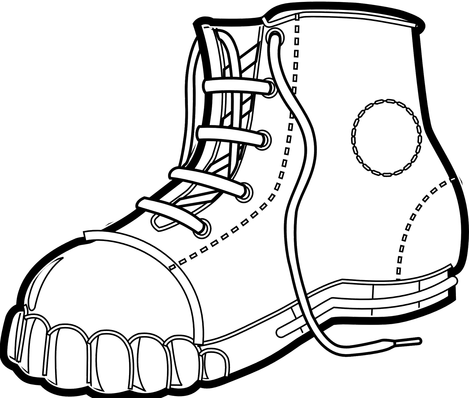1500x1272 Winter Boots Men Coloring Page