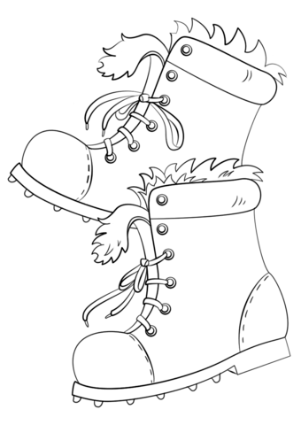 340x480 Winter Boots Coloring Page Free Printable Coloring Pages