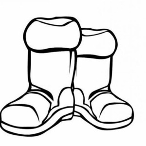 300x300 Work Boots Coloring Pages