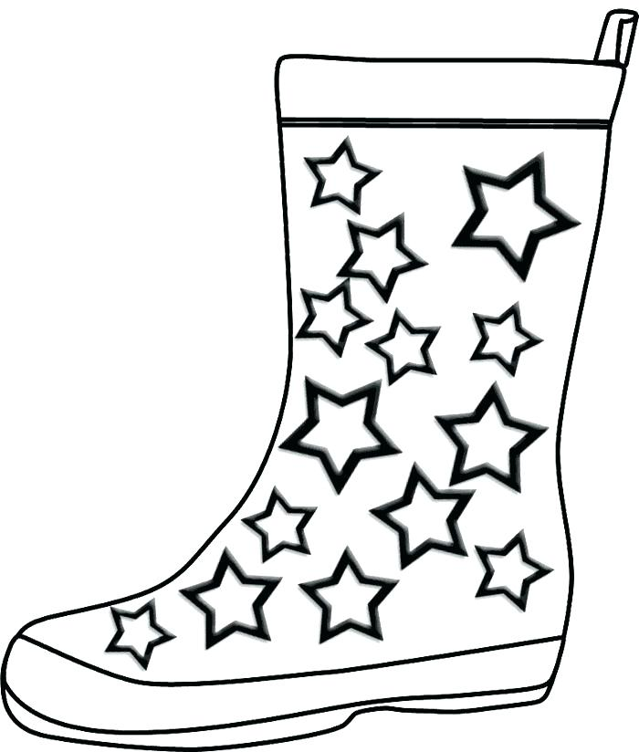 700x824 Cowboy Boots Coloring Pages
