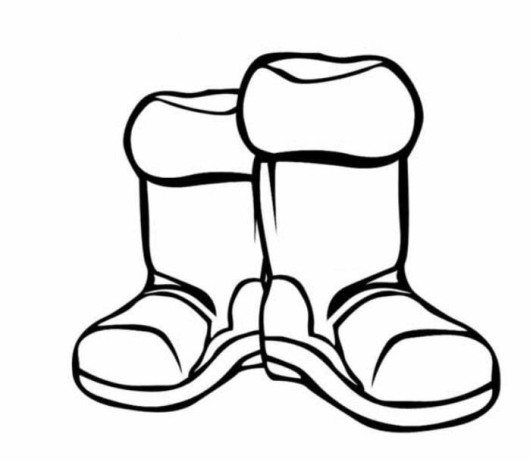 530x462 Boots Winter Clothes Coloring Page Coloring