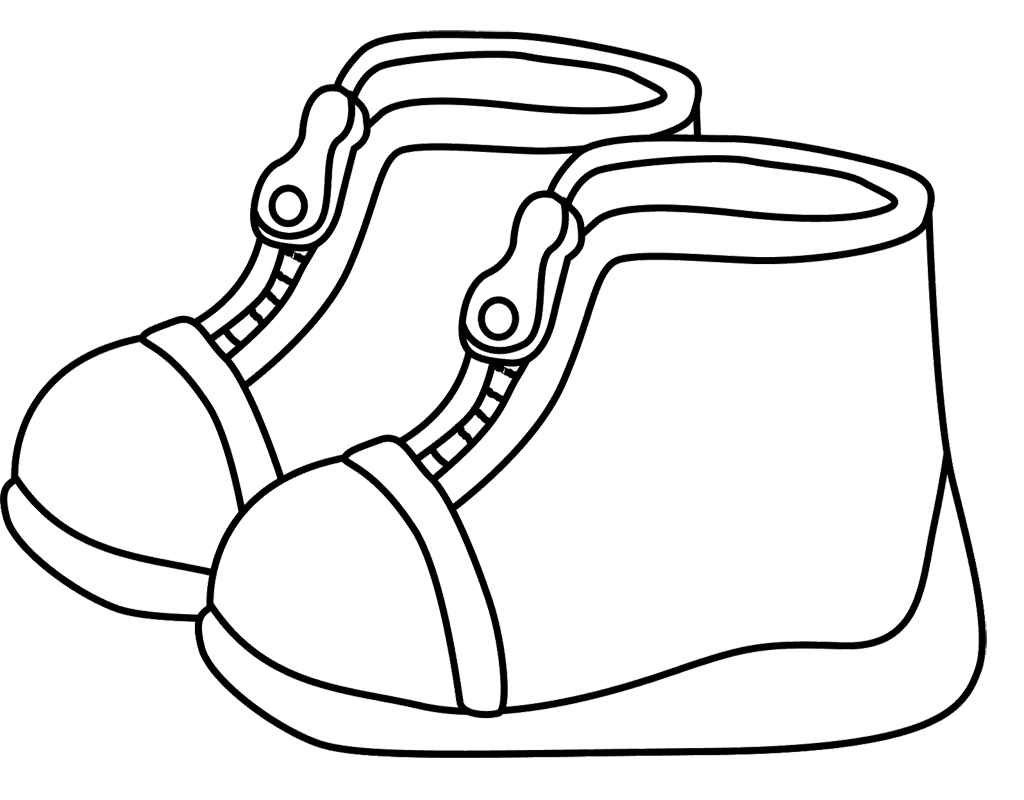 1024x800 Childrens Winter Boots Coloring Page Kids Coloring Pages