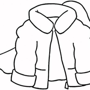300x300 Coat For Winter Season Coloring Page Coloring Sky