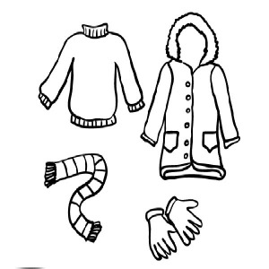 300x300 Coat For Women In Winter Season Coloring Page Coloring Sky