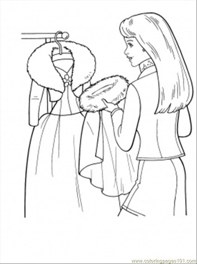 650x868 Making Winter Coat Coloring Page