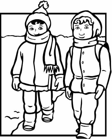 Winter Coat Drawing at GetDrawings
