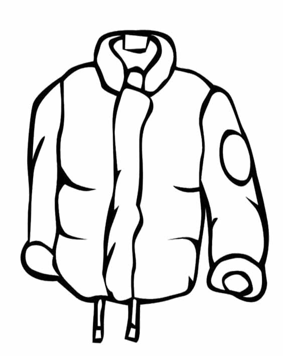 Winter Coat Drawing at GetDrawings.com | Free for personal use ...