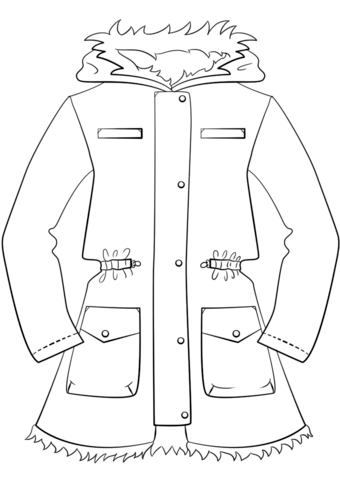 coat coloring pages - photo#13