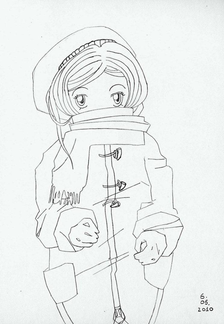 744x1074 Winter Coat. Manga Style By 1kikusui
