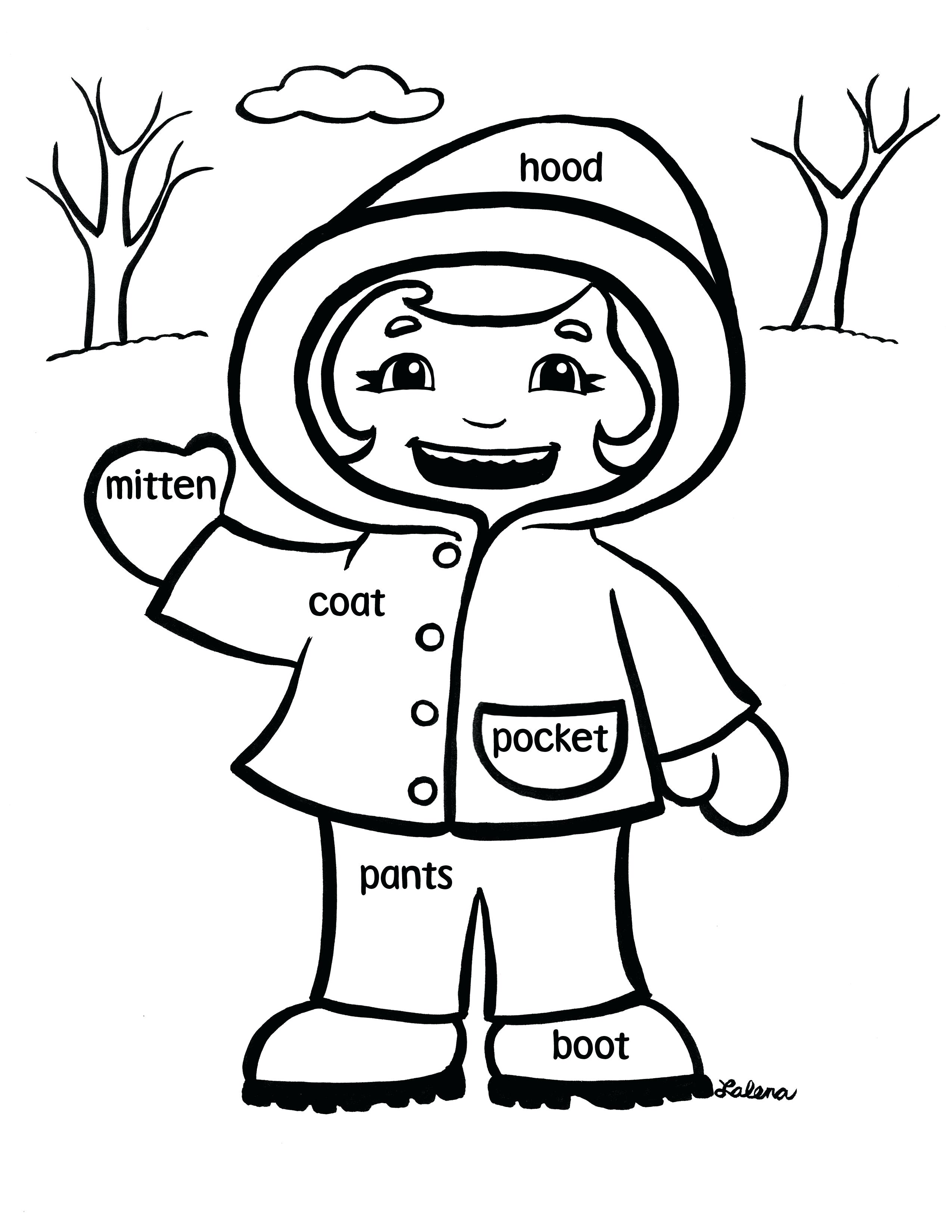 Winter Coat Drawing at GetDrawings | Free download