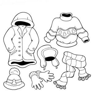 300x300 Coat Winter Clothing Coloring Page Coloring Sun