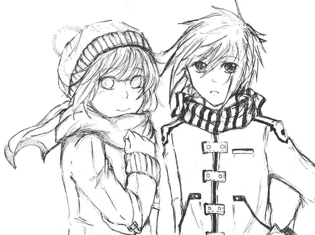1024x766 Sasuhina Winter D By Pinata09