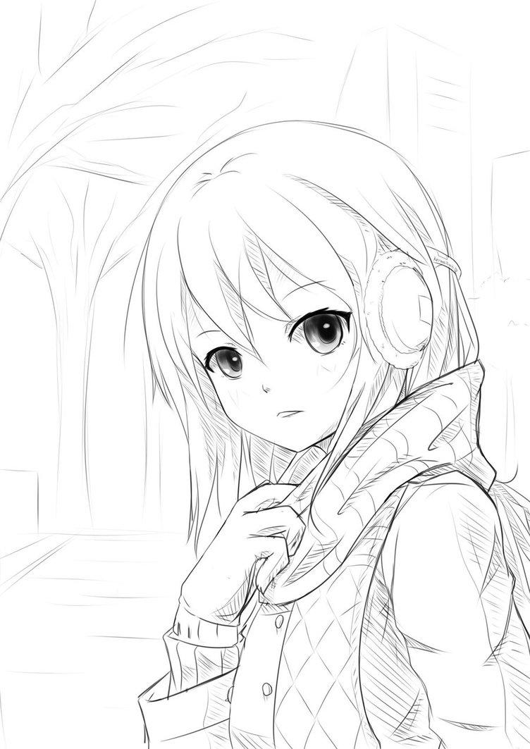 752x1063 Sketch] Winter By Kertasu