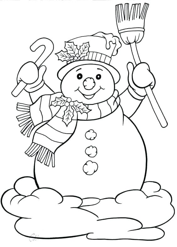 564x786 Snowman Coloring Ideas As Well As Winter Rabbit And Snowman