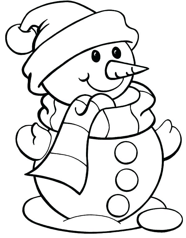 601x768 Winter Coloring Pages Free Page Color Snowman