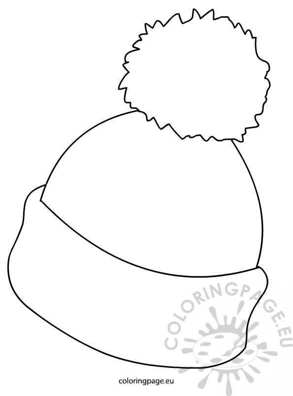 595x804 Winter Hat Picture Coloring Page