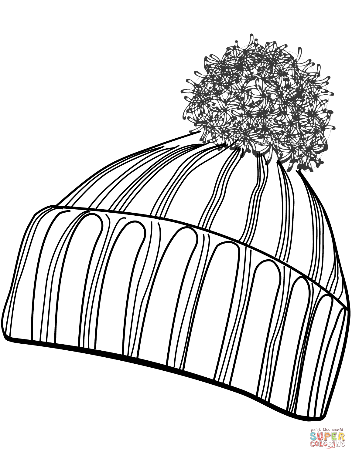 It is a picture of Luscious Winter Hat Drawing
