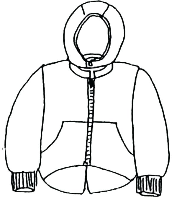 Winter Jacket Drawing at GetDrawings.com | Free for personal use ...