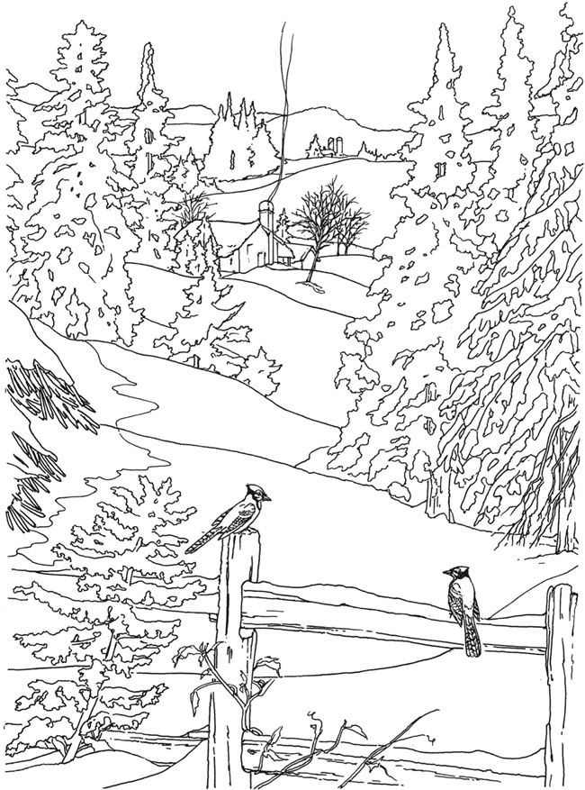 650x877 Welcome To Dover Publications Creative Haven Country Scenes