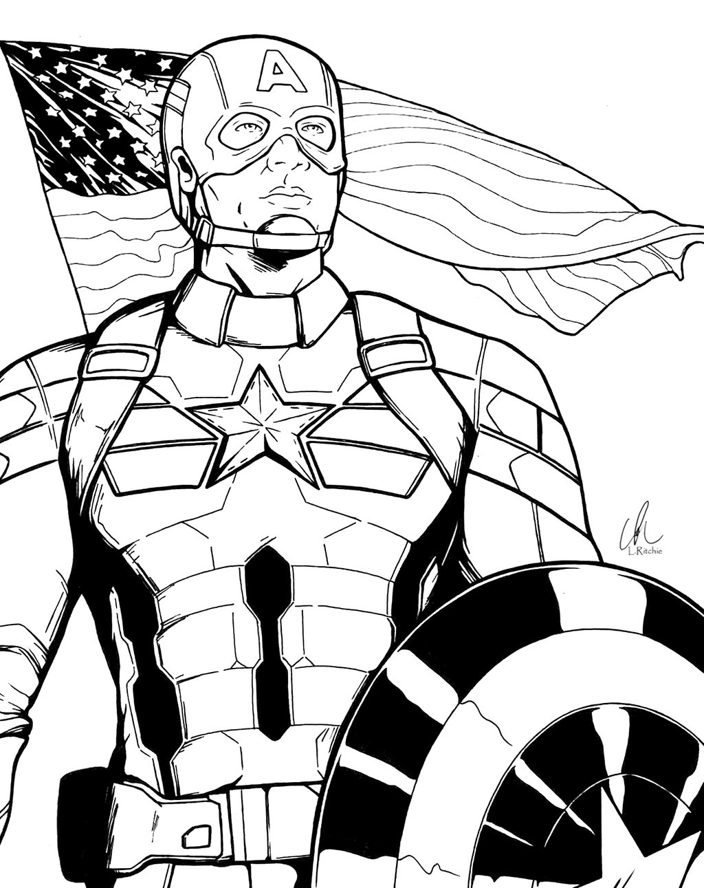 Captain america winter soldier coloring pages ~ Winter Line Drawing at GetDrawings.com | Free for personal ...