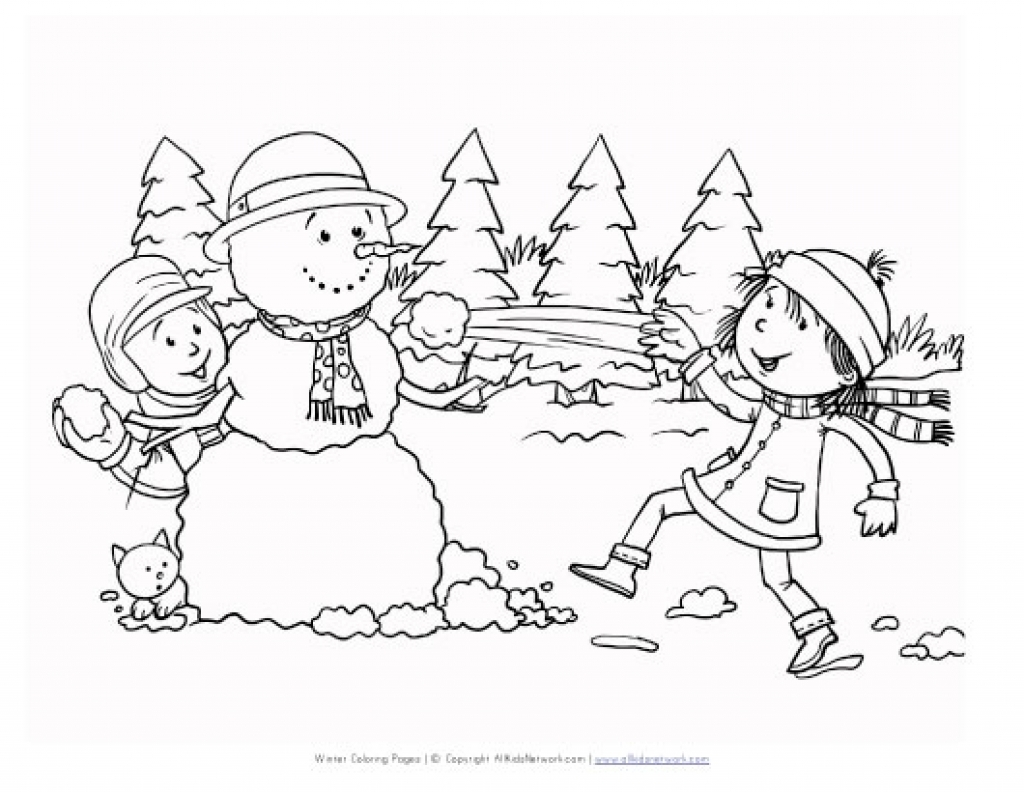 1024x792 Inspiring Winter Scene Coloring Page Cool Design Ideas