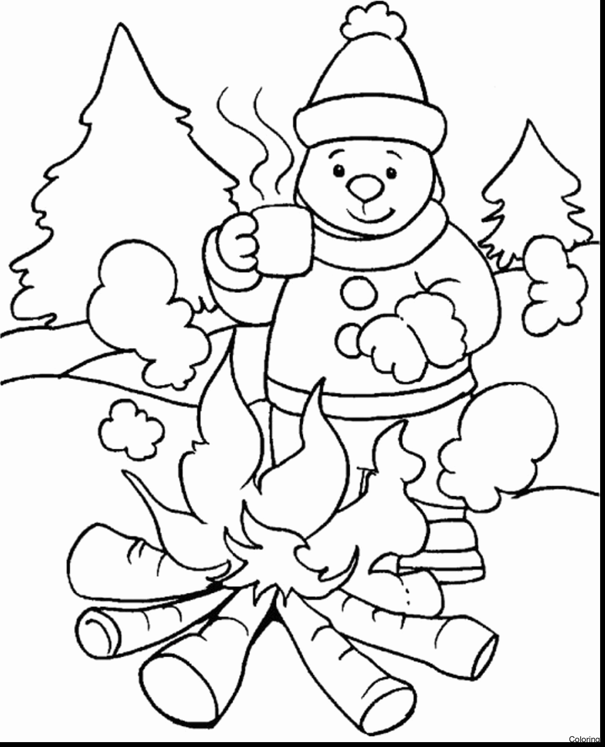 1243x1533 50 Inspirational Image Of Free Winter Coloring Pages