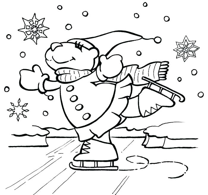 700x657 Winter Coloring Pages Free Printable Printable Winter Coloring