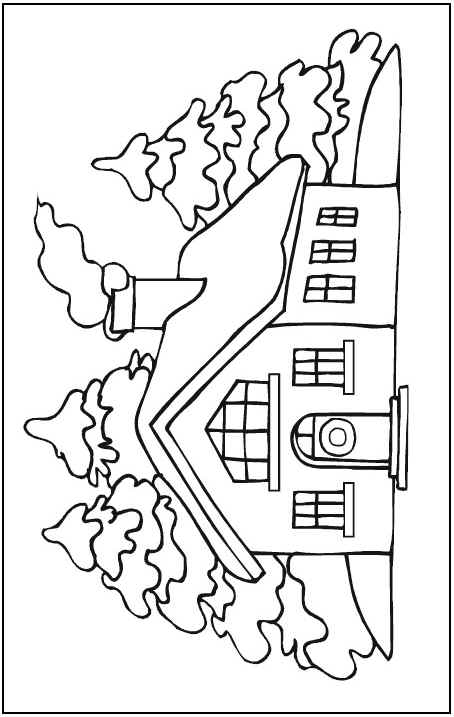 454x717 Winter Scene Coloring Page Coloring Pages Scene