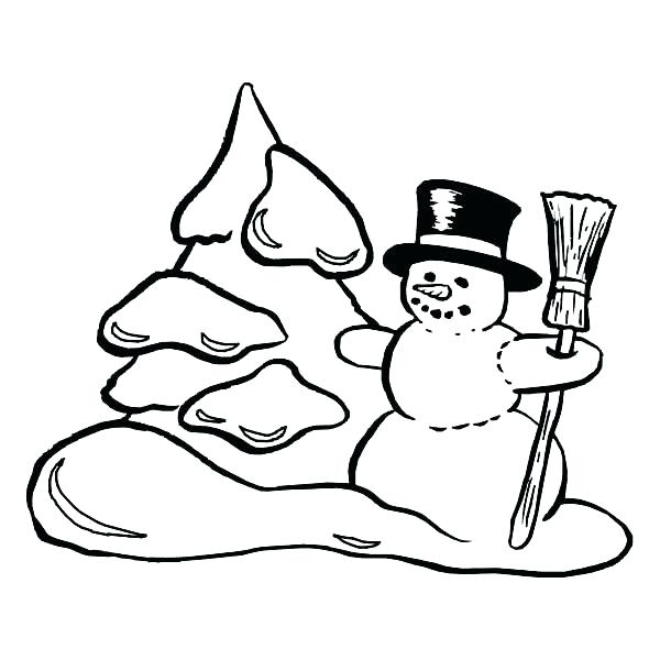 600x600 Winter Scenes Coloring Pages Drawing A Winter Scene Drawing Art