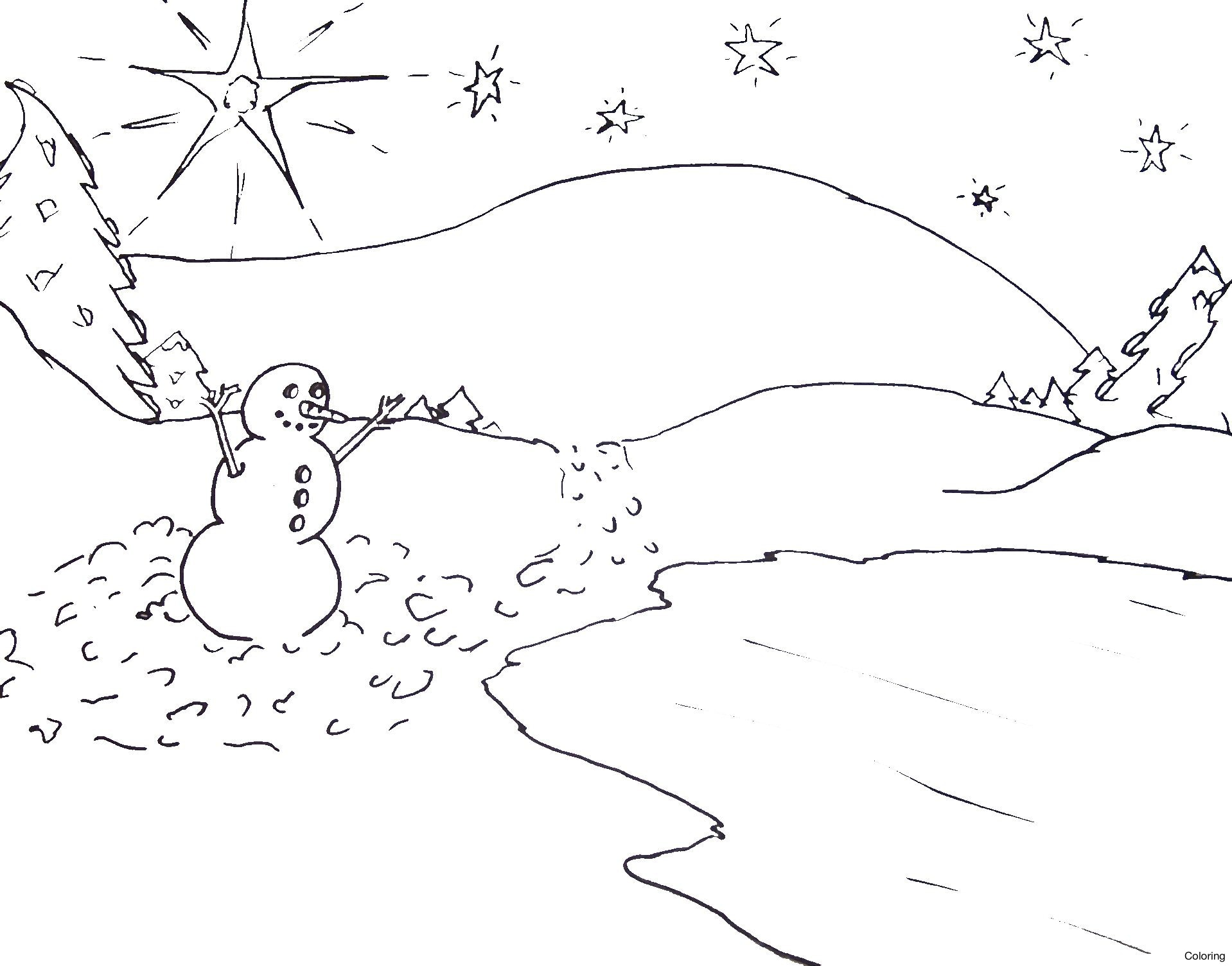 1918x1505 Winter Scenes Coloring Pages Page 608744 Scene For Free 2015 6f