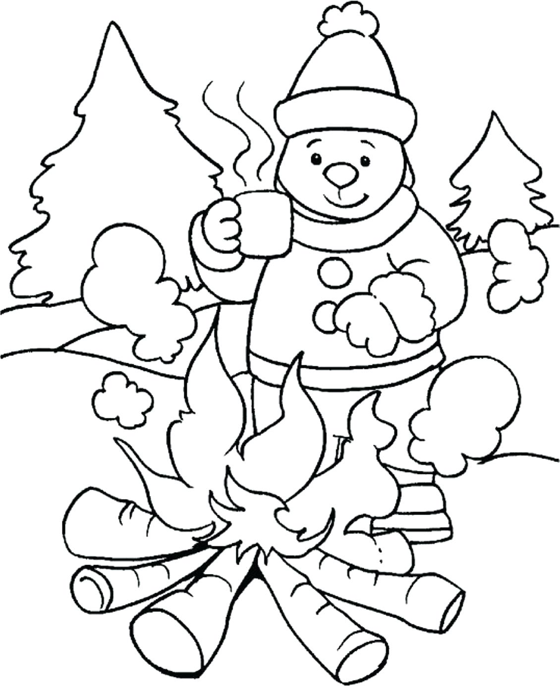 Winter Scene Drawing at GetDrawings.com | Free for personal use ...
