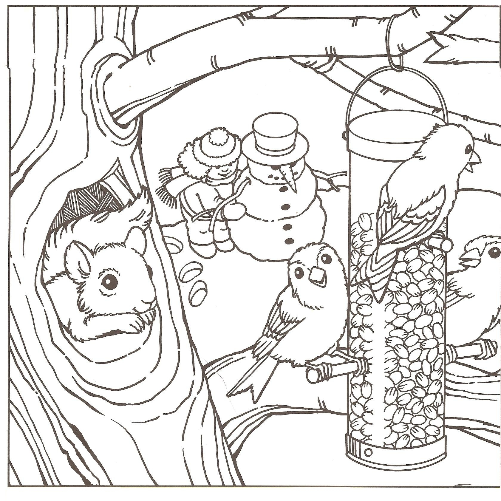 1680x1680 Winter Scene Coloring Pages For Adults Download Printable