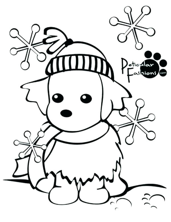 600x777 Winter Scene Coloring Pages
