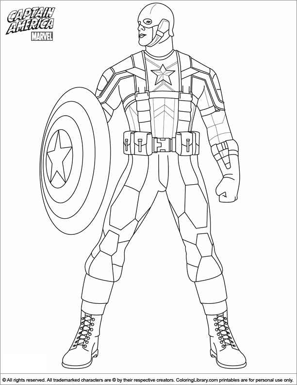 612x792 Winter Soldier Coloring Pages