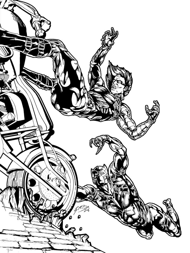 774x1032 Black Panther Vs Winter Soldier Inks By Gemgfx
