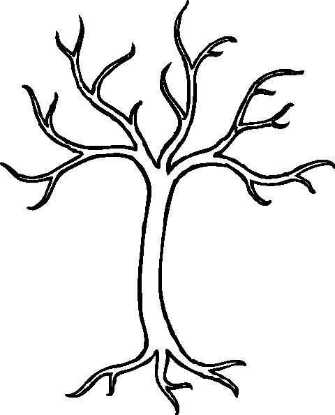 480x595 Winter Tree Clip Art