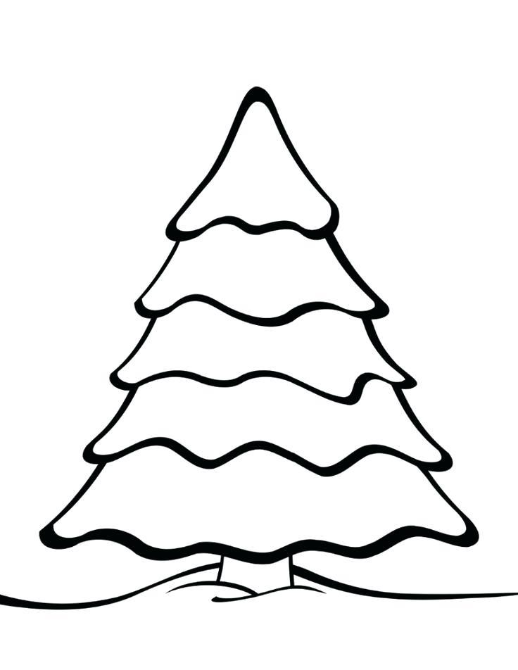 736x952 Christmas Tree Drawing