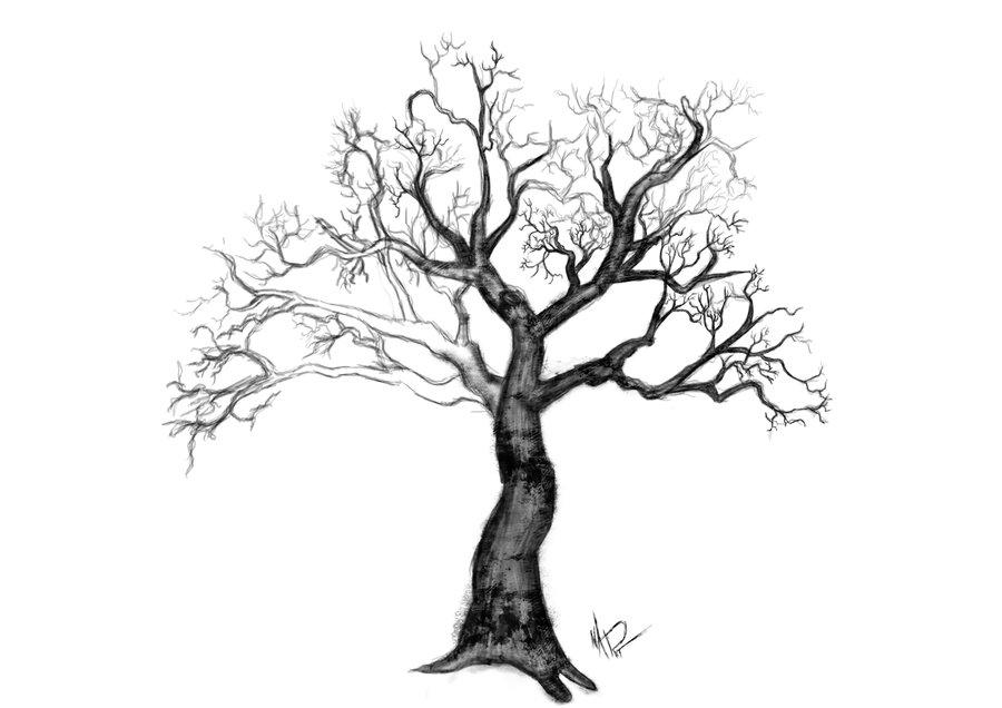 900x636 Winter Tree Nail Art