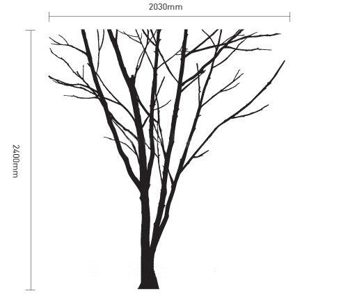 490x442 Lonely Winter Tree Wall Sticker