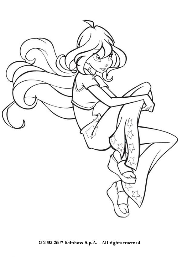 601x850 The Beautiful Winx Girl Bloom Coloring Pages