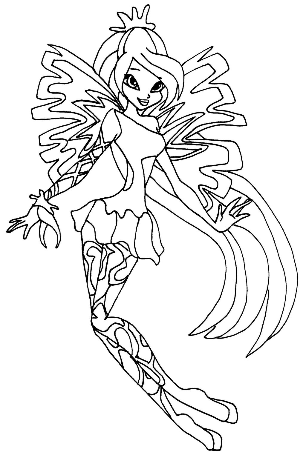 1024x1524 Winx Club Bloom Sirenix Coloring Pages Locuri De Vizitat