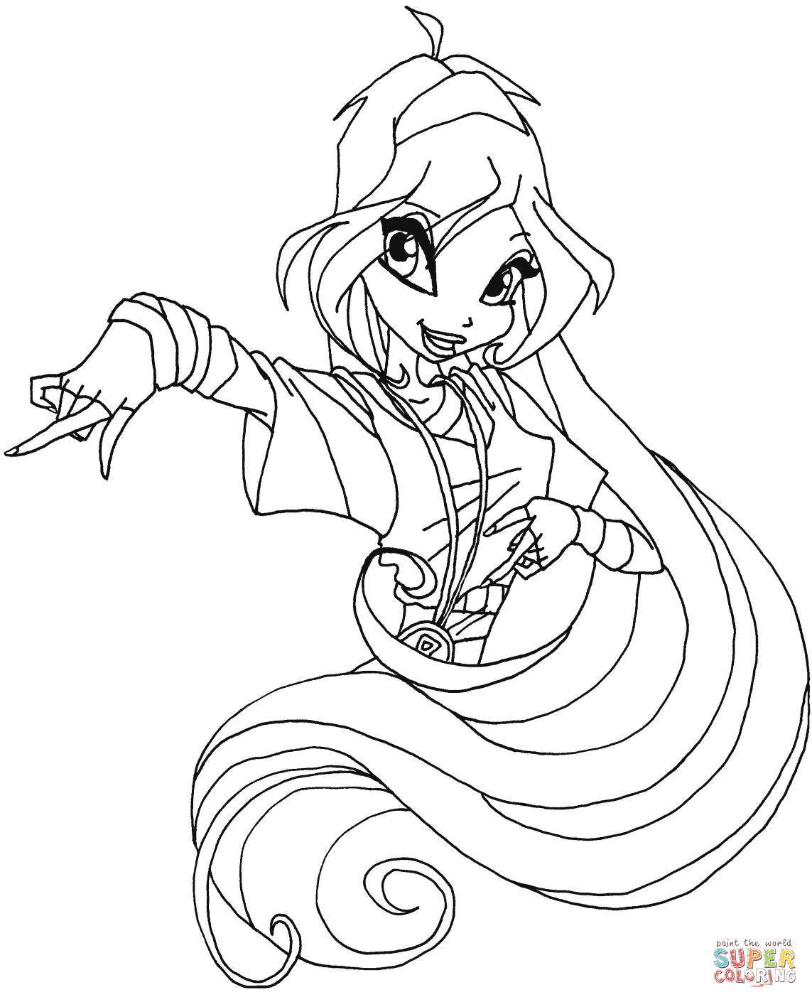 1143x1410 Winx Club Bloom Coloring Pages Free Coloring Pages