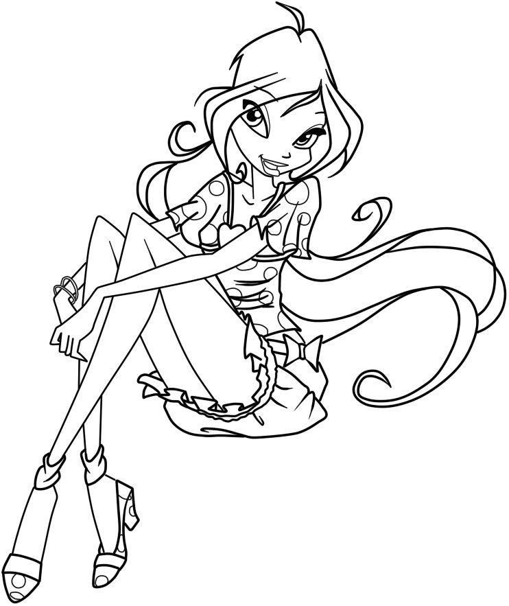 742x883 Winx Club Coloring Pages And Book UniqueColoringPages