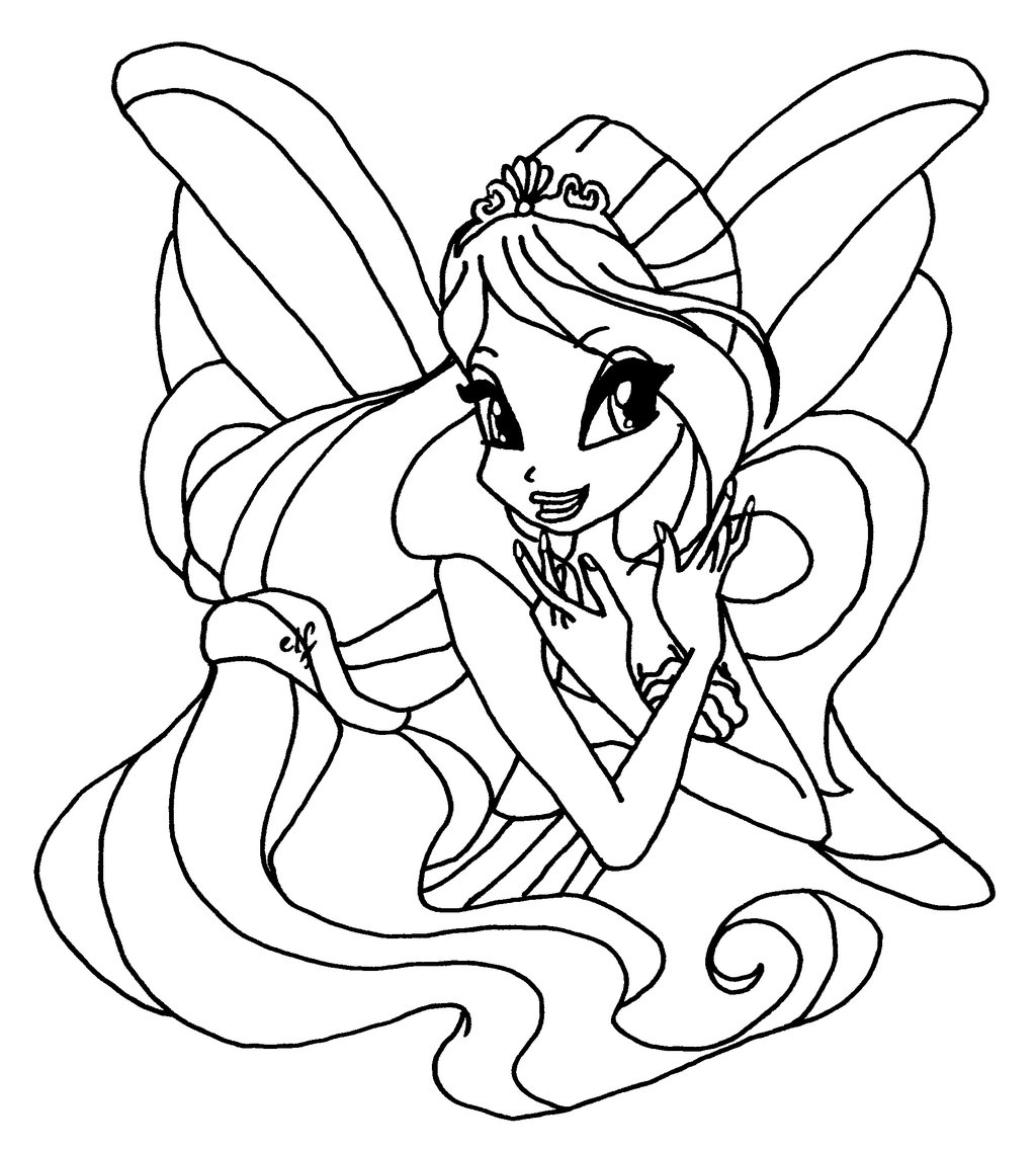 Winx Club Bloom Page Coloring For Kids 1024x1135 Harmonix By Elfkena On DeviantArt